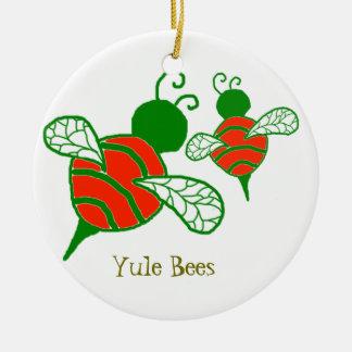 Ornamento del día de fiesta de las abejas de Yule Ornamente De Reyes
