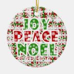 Ornamento del día de fiesta de Noel de la paz de Ornamentos Para Reyes Magos