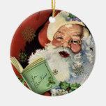 Ornamento del día de fiesta de Papá Noel del vinta Ornamente De Reyes