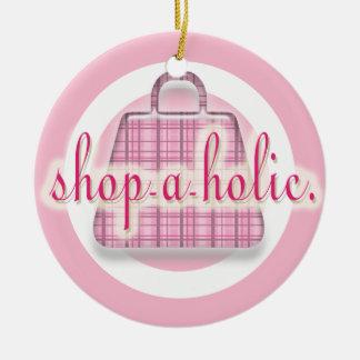 Ornamento del día de fiesta de Shopaholic Adornos De Navidad