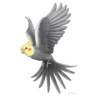 Ornamento del día de fiesta del Cockatiel del vuel Esculturas Fotograficas