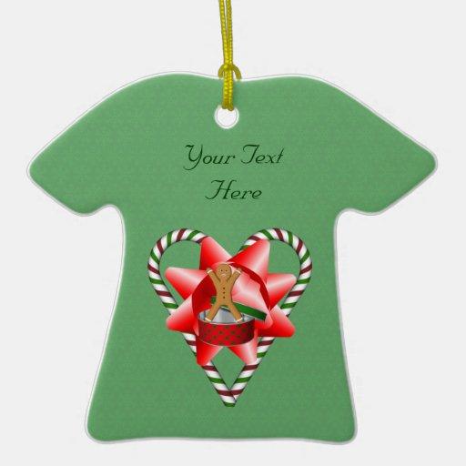 Ornamento del día de fiesta del corazón del bastón adorno de navidad