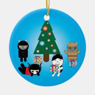 Ornamento del día de fiesta del navidad de los adorno navideño redondo de cerámica