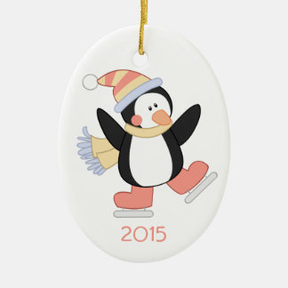 Ornamento del día de fiesta del navidad del adorno ovalado de cerámica