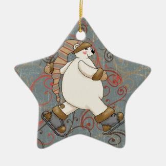 Ornamento del día de fiesta del oso polar del ornatos