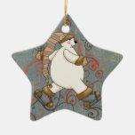 Ornamento del día de fiesta del oso polar del pati ornatos