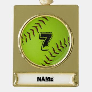 Ornamento del día de fiesta del softball adornos personalizables