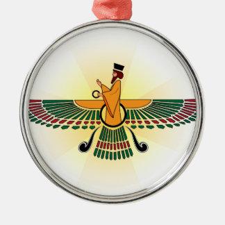 Ornamento del día de fiesta del Zoroastrian Adorno Navideño Redondo De Metal