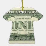 Ornamento del dinero de América Adorno De Navidad