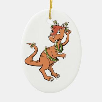 Ornamento del dinosaurio de Belces de trineo Adornos
