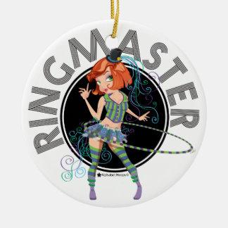 Ornamento del director de pista de circo (Redhead) Ornamentos Para Reyes Magos