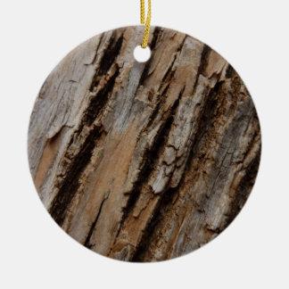 Ornamento del diseño de la corteza de árbol adorno de navidad