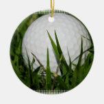 Ornamento del diseño de la pelota de golf ornamento para reyes magos