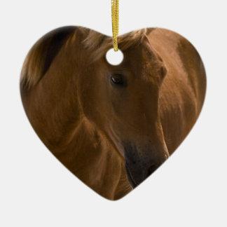 Ornamento del diseño del caballo de la castaña adorno