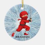 Ornamento del diseño del muchacho de Ninja Ornaments Para Arbol De Navidad