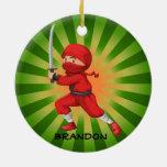 Ornamento del diseño del muchacho de Ninja Ornato