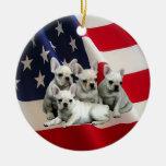 Ornamento del dogo francés adornos de navidad