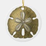Ornamento del dólar de arena del oro ornaments para arbol de navidad