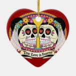 Ornamento del DOS Novias (2 novias) Adorno De Cerámica En Forma De Corazón