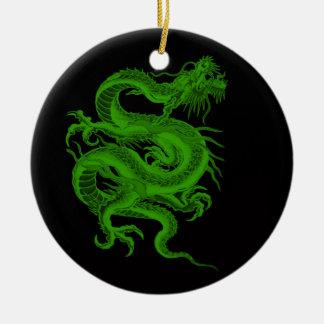 Ornamento del Draco del dragón verde Ornamentos De Navidad