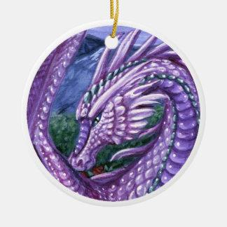 Ornamento del dragón del Alexandrite Adorno Navideño Redondo De Cerámica