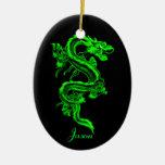 Ornamento del dragón verde ornamentos de reyes