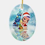 Ornamento del duende del navidad de Valuegem Adorno Para Reyes