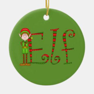 Ornamento del duende del navidad ornamentos de navidad