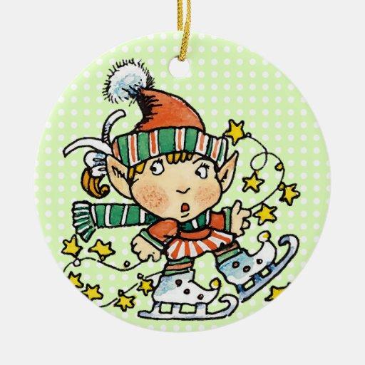 Ornamento del duende del navidad ornamento para arbol de navidad