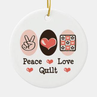 Ornamento del edredón del amor de la paz adorno para reyes