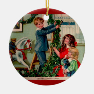 Ornamento del ejemplo del navidad del Victorian Adorno Navideño Redondo De Cerámica