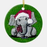 Ornamento del elefante de Santa Ornato
