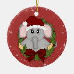 Ornamento del elefante del navidad ornamento de reyes magos