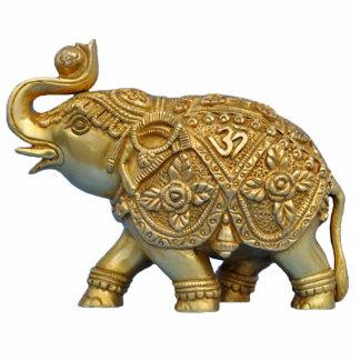 Ornamento del elefante indio adorno fotoescultura