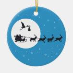 Ornamento del embarazo del navidad que viene a la adorno navideño redondo de cerámica