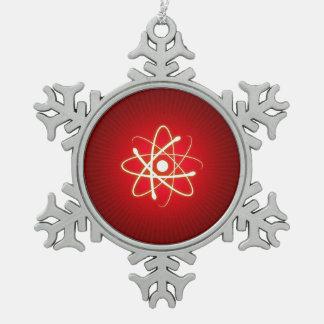 Ornamento del empollón del átomo del resplandor adornos