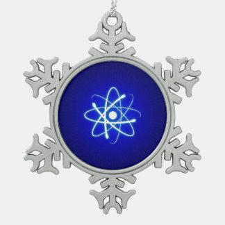 Ornamento del empollón del átomo del resplandor adorno