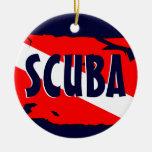 Ornamento del equipo de submarinismo ornaments para arbol de navidad