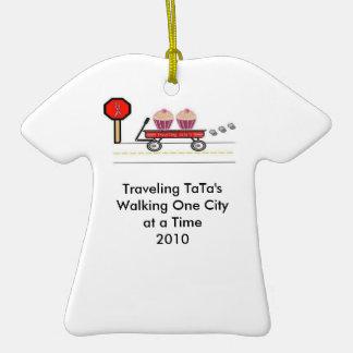 Ornamento del equipo de Tata que viaja Ornamento De Navidad