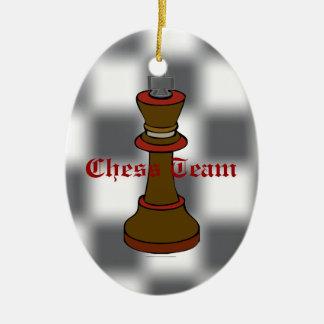 Ornamento del equipo del ajedrez o del club de adorno ovalado de cerámica