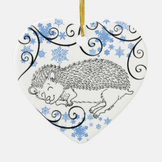 Ornamento del erizo el dormir ornamentos de navidad