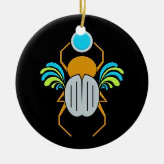 Ornamento del ESCARABAJO, de doble cara Ornamentos De Reyes