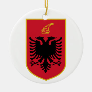 Ornamento del escudo de armas de Albania Ornato
