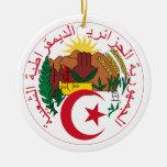 Ornamento del escudo de armas de Argelia Adorno Para Reyes