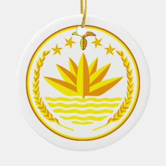 Ornamento del escudo de armas de Bangladesh Ornamento Para Reyes Magos