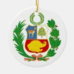 Ornamento del escudo de armas de Perú Adorno De Navidad