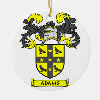 Ornamento del escudo de la familia de Adams Adorno Navideño Redondo De Cerámica
