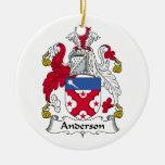 Ornamento del escudo de la familia de Anderson Adorno De Reyes