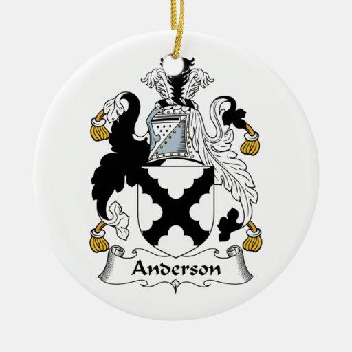 Ornamento del escudo de la familia de Anderson Adornos De Navidad