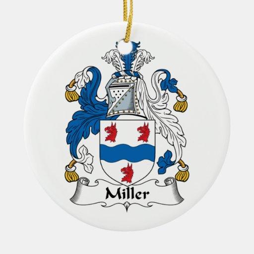 Ornamento del escudo de la familia de Miller Adorno De Navidad